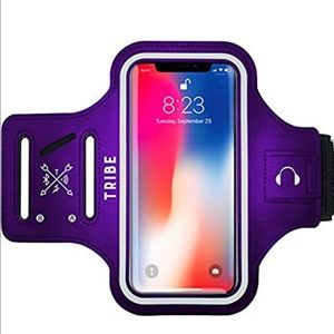 iPhone arm case holder. Large Purple